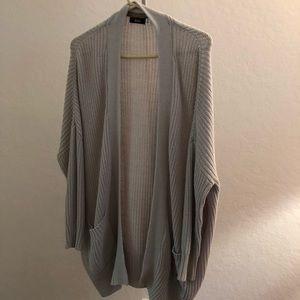 BDG: Light Grey Oversized Cardigan